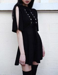 Enchantress Lace Up Dress