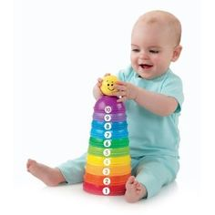 Fisher Price stack and roll cups... a really simple toy, but can be used to play in so many different ways!