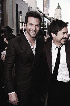 Bradley Cooper and Robert Downey Jr!!