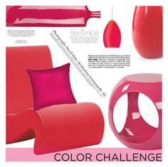 """Colour Challenge: Red and Pink"" by aislinnhamilton1993 ❤ liked on Polyvore featuring interior, interiors, interior design, home, home decor, interior decorating, Vitra, Madura, WAC Lighting and Décor 140"