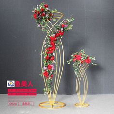 Source Metal flower stand for wedding party event decoration, wedding walkway, w. - Source Metal flower stand for wedding party event decoration, wedding walkway, wedding table center - Wedding Table Centres, Wedding Reception Centerpieces, Wedding Stage Design, Wedding Designs, Wedding Ideas, Backdrop Decorations, Wedding Decorations, Wedding Walkway, Creation Deco