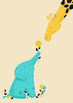 Baby Elephant Art Print by Jay Fleck