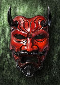 """knightandknights: """" Japanese Mask by mike Fong """""""