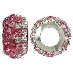 Messing European Perlen, mit Ton, Rondell, silberfarben plattiert, ohne troll, keine, frei von Nickel, Blei & Kadmium, 7.50x12x7.50mm, Bohru...