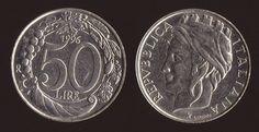 Valore Moneta 50 lire Italia Turrita