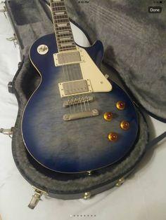 Epiphone Electric Guitar, Electric Guitars, Gibson Les Paul, Drum Kits, Vintage Guitars, Drums, Music Instruments, Sweet, Blue