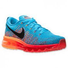 Nike Air Max Running Flyknit rojo / naranja / azul