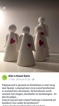 """""""Leadership is more who you are than what you do. Handmade Christmas Crafts, Ceramic Christmas Decorations, Christmas Clay, Ceramics Projects, Polymer Clay Projects, Ceramica Artistica Ideas, Pottery Angels, Diy Air Dry Clay, Pottery Handbuilding"""