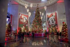 Disney themed Christmas Tree  | The entrance to the Treasures of the Walt Disney Archives. This ...