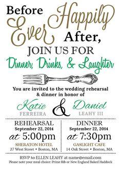 Custom rehearsal dinner invitation digital by setapartdesigns85 5x7 customized wedding rehearsal dinner invitation digital file junglespirit Image collections