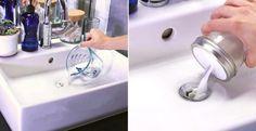 Problèmes d'évier bouché et d'odeurs désagréables? Voici une recette de Dran-O maison! - Trucs et Astuces - Trucs et Bricolages