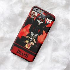 Death Tarot Card iPhone 6 Case by Wraithe Designs. Strange Wonders Tarot Deck.