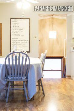 DIY Recipe Board / farmhouse decor / DIY wooden sign / kitchen decor / home decor
