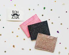 Glitter Card Case. Credit Card Case. Card Holder. Vegan