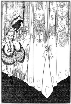 """The Dream. Frontispiece by Aubrey Beardsley to """"The Rape of the Lock"""" (1896)"""