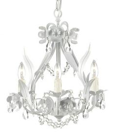 Give the room an injection of glitz and glamour with this crystal encrusted chandelier. Decadently designed with a modern frame and floral embellishments, it beautifully brightens the room.