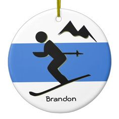 Ski Design Ornament