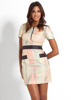CHLOÉ Patchwork Printed Zip Front Dress