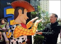 Woody and Tom Hanks (Toy Story)