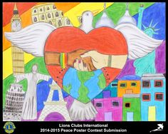 2014-15 Lions Clubs International Peace Poster Competition submission from Venancio Aires Lions Club in Brazil