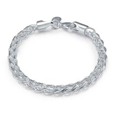 silver Twist Circle men bracelet margarida SMTH070