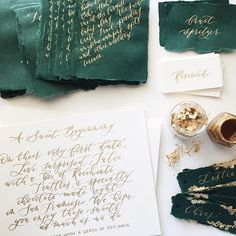 Me oh my, green and gold, but not any kind of green. Handmade green paper from…