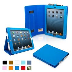 Review for Snugg iPad 4 & iPad 3 Case – PU Leather Case Cover and Flip Stand with Elastic Hand Strap and Premium Nubuck Fibre Interior (Electric Blue) – Automatically Wakes and Puts the iPad 4 & 3 to Sleep. Superior Quality Design as Featured in GQ Magazine