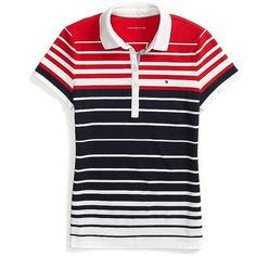 Tommy Hilfiger Heritage Fit Multi Stripe Polo (82 BRL) ❤ liked on Polyvore featuring tops, tommy hilfiger, stripe top, striped top, polo tops and tommy hilfiger tops