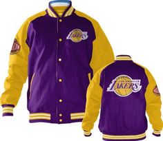 Los Angeles Lakers Snap Front Varsity Reversible Jacket