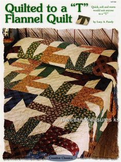 Quilted to a T Flannel Quilt   Creative Scrap Wall Quilt Pattern Leaflet