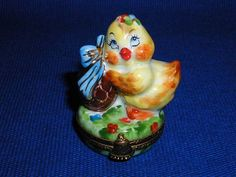 CHIC W/CHOCOLATE EGG - Porcelain Limoges from France - Limoges Factory Co.