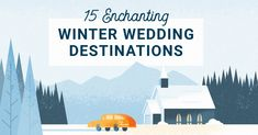 Since the average wedding takes about a year to plan, I thought I'd share a round-up of some of the best destination winter wedding locations to plan an unforgettable wedding weekend. Winter Wedding Destinations, Destination Weddings, Wedding Locations, Wedding Venues, Wedding Costs, Plan Your Wedding, Wedding Planning, Awesome Husband, Best Husband