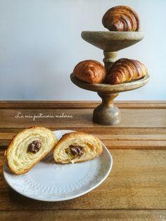La mia pasticceria moderna: Croissant sfogliati, ricetta con indicazioni per la preparazione casalinga e passaggi fotgrafici. Foto tutorial.