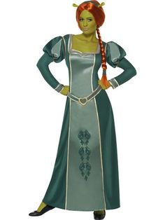 Check out this stunning officially licensed Shrek Fiona Costume for a deluxe womens fairytale fancy dress look. From our Disney & Cartoon Costumes range. Shrek And Fiona Costume, Costume Prince, Fiona Shrek, Cartoon Costumes, Adult Costumes, Costumes For Women, Costume Ideas, Rave Outfits