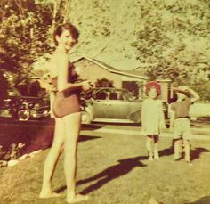 Granna's House (Clara Belle Henley McGee) with Chere Barnett and cousins Jackie McGee & Donna Moyer 225 Thoma Street Reno, Nevada 1955