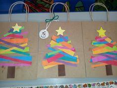 Preschool Christmas gift bags and tags.