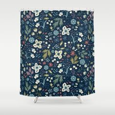 Buy Shower Curtains featuring Wild Meadow by Anna Deegan. Made from 100% easy care polyester our designer shower curtains are printed in the USA and feature a 12 button-hole top for simple hanging.