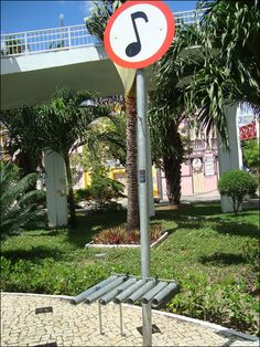 InCeará, Brazil,Narcelio Grud transforms street signs around the city in to public instruments as part of his Musica Livre project.