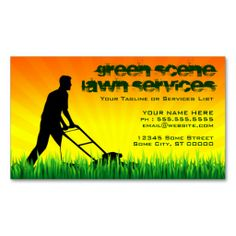 Lawn Service Landscape Green Business Card I Love This Design It - Lawn care business cards templates free