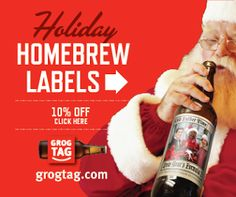 Homebrew Finds: GrogTag: New Holiday Homebrew Labels + 10% Off