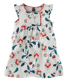 Look what I found on #zulily! Pearl Gray Floral Blumengarten Dress - Infant, Toddler & Girls by Tea Collection #zulilyfinds