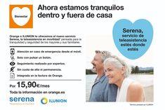 #SERENA teleasistencia para los mayores 🧓👴dentro y fuera de casa 📲 por solo 15,90€/mes. Infórmate en tu tienda @orange_es más cercana #DigitalWap Digital, Shopping, Home, Balearic Islands, Wellness, Tents