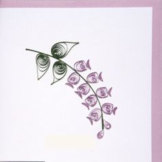 Alpinia flower paper quilled greeting card from miximports.com
