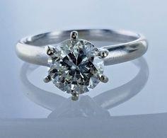 1.49 Carat GIA Grading Solitaire Diamond Antique Engagement Ring I Color SI2 #LionDiamondsGroup #Solitaire