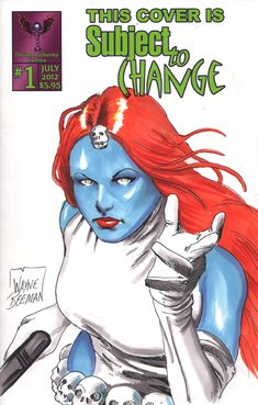 Mystique drawing for a variant cover comic.