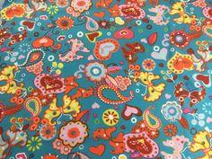 Stoff Blumen - Jersey BW STOFF Stark Reduziert (1m=9,98EUR)D98 - ein Designerstück von stoffefrank bei DaWanda
