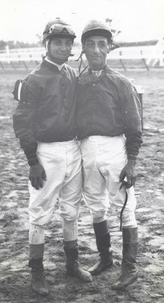 Jockeys Bill Hartack and Eddie Arcaro. They won 8 Preakess Stakes between them.
