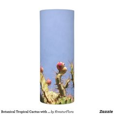 Botanical Tropical Cactus with Blue Skies Led Candle