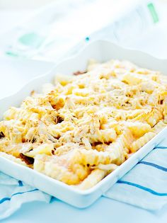 cheesy french fry casserole with chicken - Heather's French Press