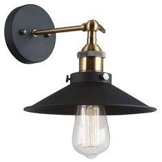 Kinkiet LAMPA ścienna KERMIO MBM-2319/1 Italux metalowa OPRAWA IP20 czarna